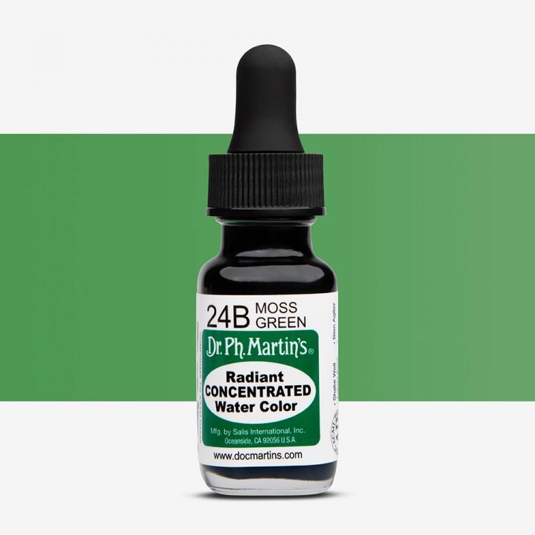 Dr. Ph. Martin's : Radiant Watercolour Paint Dye : 15ml : Moss Green