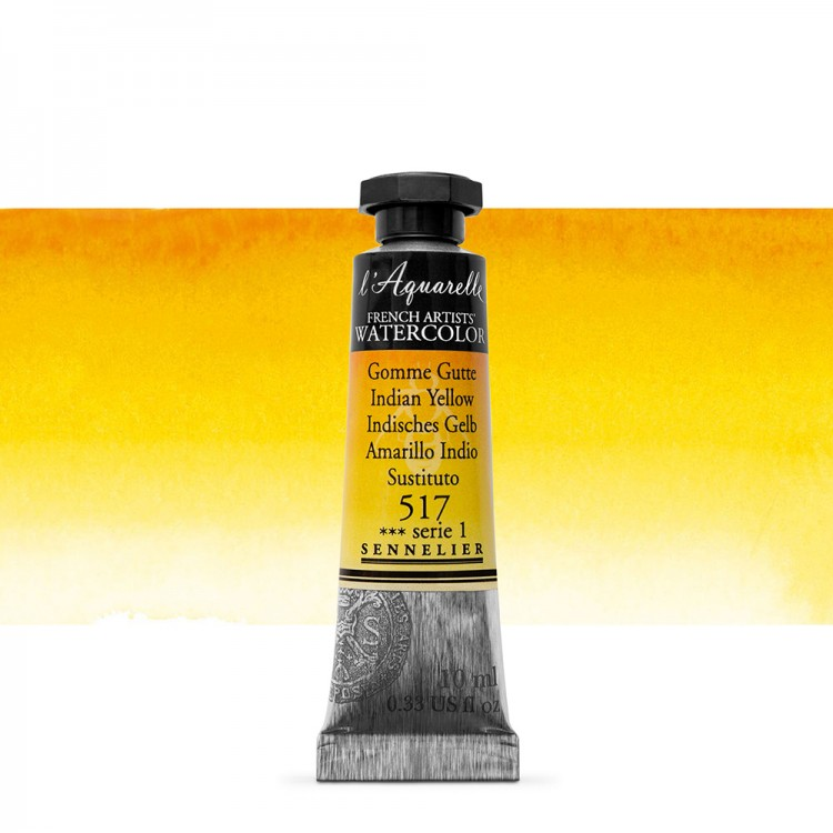 Sennelier : Watercolour Paint : 10ml :Indian Yellow