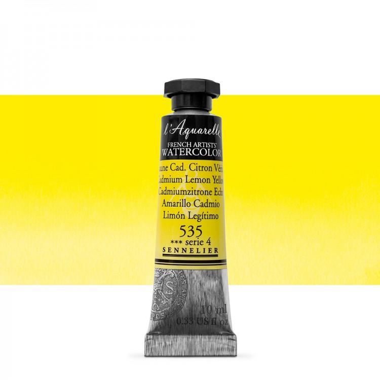 Sennelier : Watercolour Paint : 10ml : Cadmium Lemon Yellow