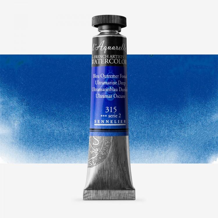 Sennelier : Watercolour Paint : 21ml : Ultramarine Deep