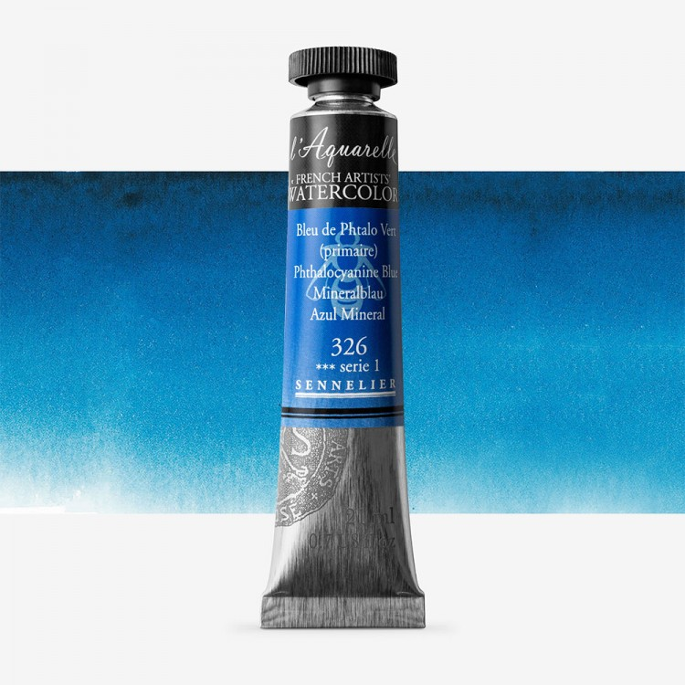 Sennelier : Watercolour Paint : 21ml : Phtalocyanine Blue