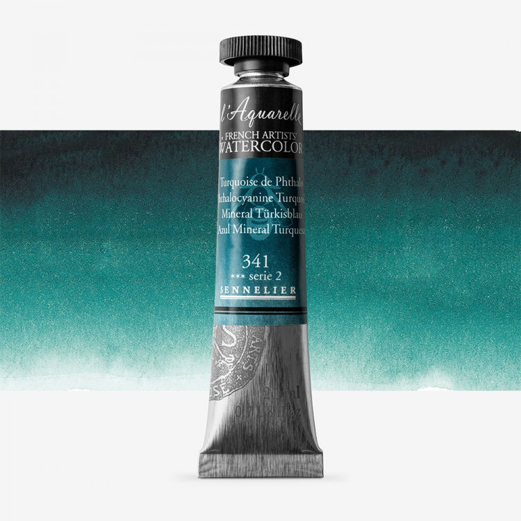 Sennelier : Watercolour Paint : 21ml : Phthalocyanine Turquoise