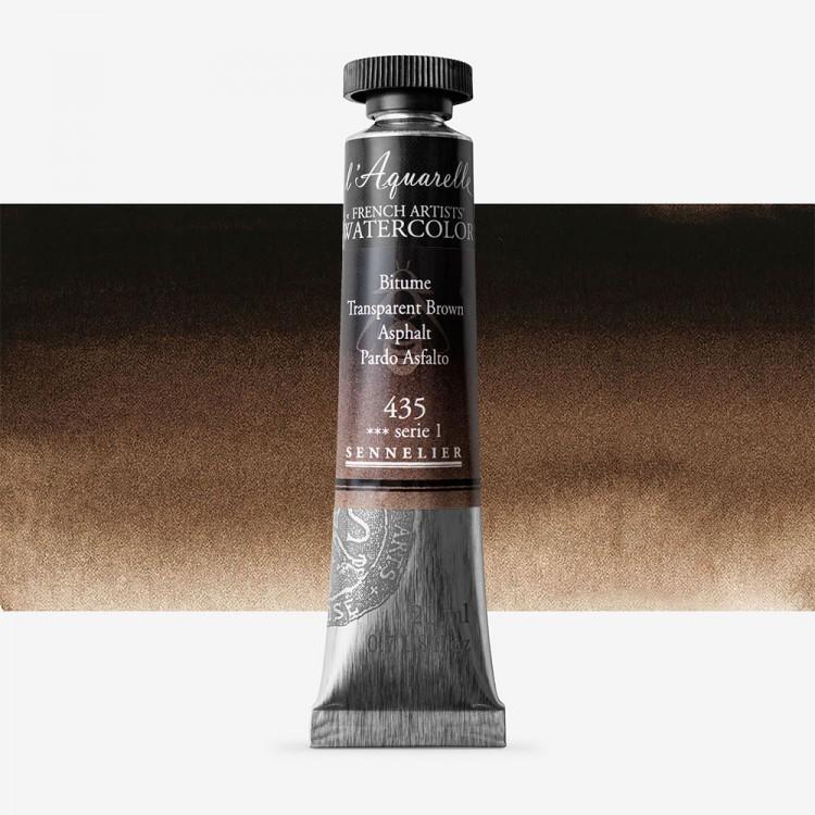 Sennelier : Watercolour Paint : 21ml : Transparent Brown