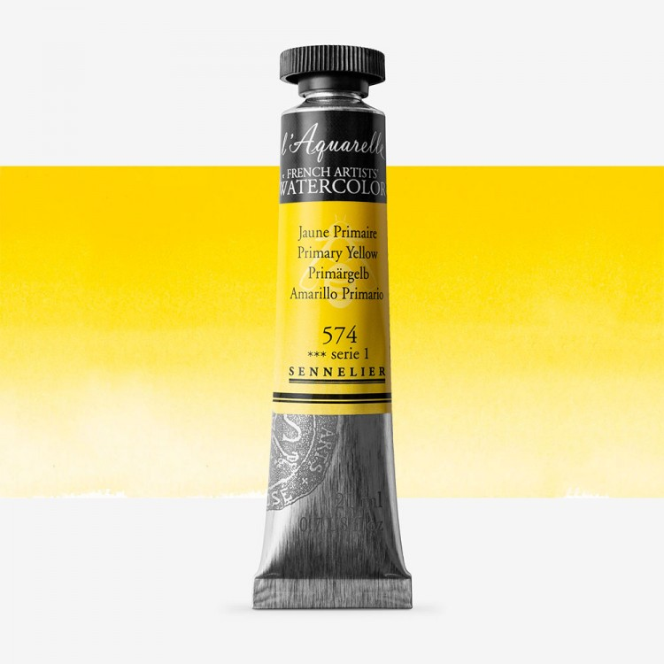 Sennelier : Watercolour Paint : 21ml : Primary Yellow