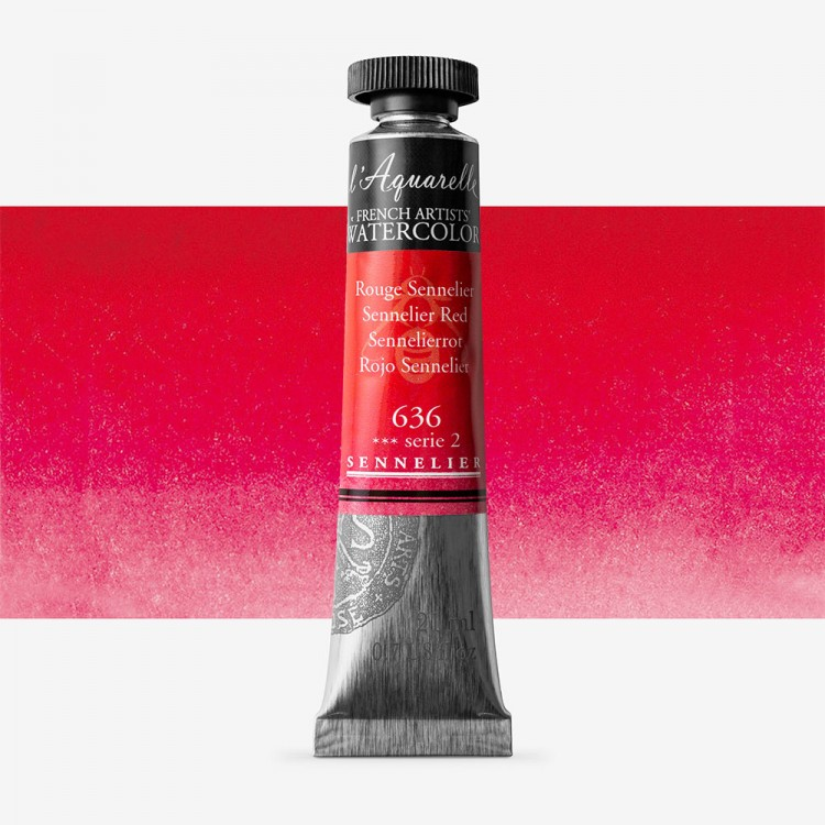 Sennelier : Watercolour Paint : 21ml : Sennelier Red