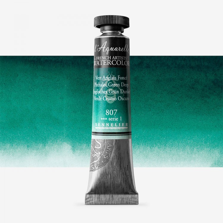 Sennelier : Watercolour Paint : 21ml : Phthalo Green Deep