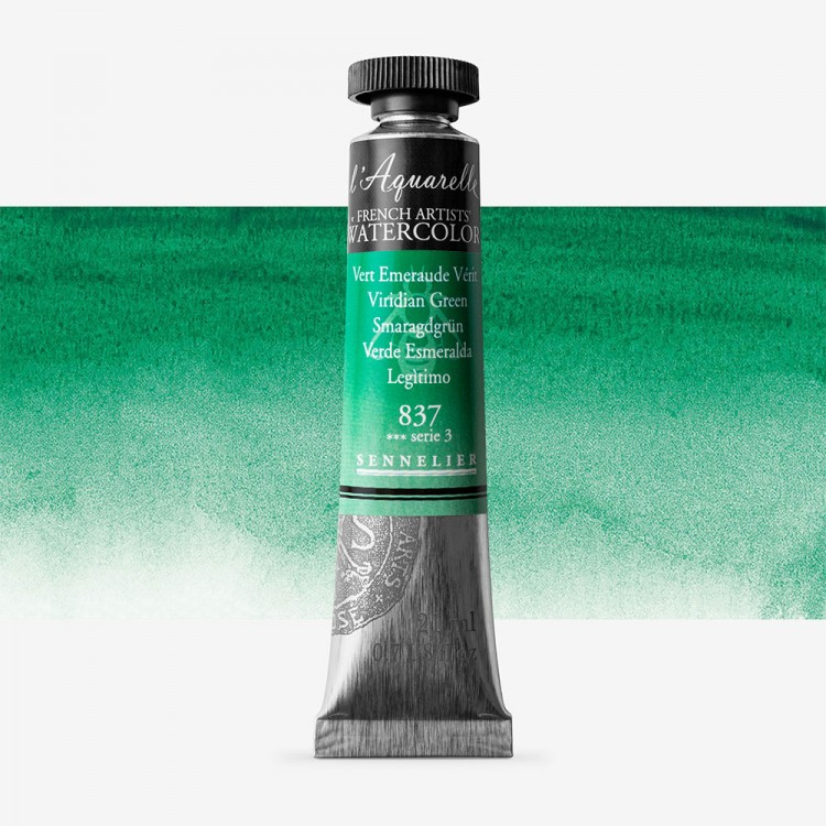 Sennelier : Watercolour Paint : 21ml : Viridian Green