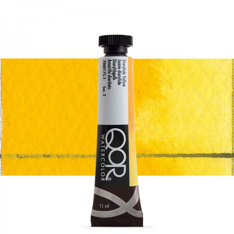 Golden QoR : Watercolour Paint : 11ml : Diarylide Yellow