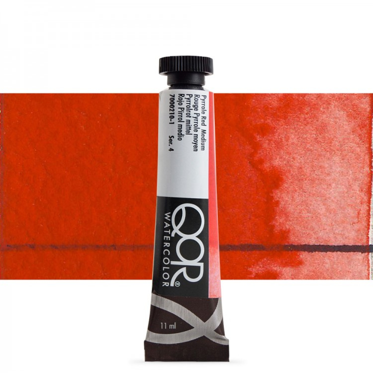 Golden QoR : Watercolour Paint : 11ml : Pyrrole Red Medium