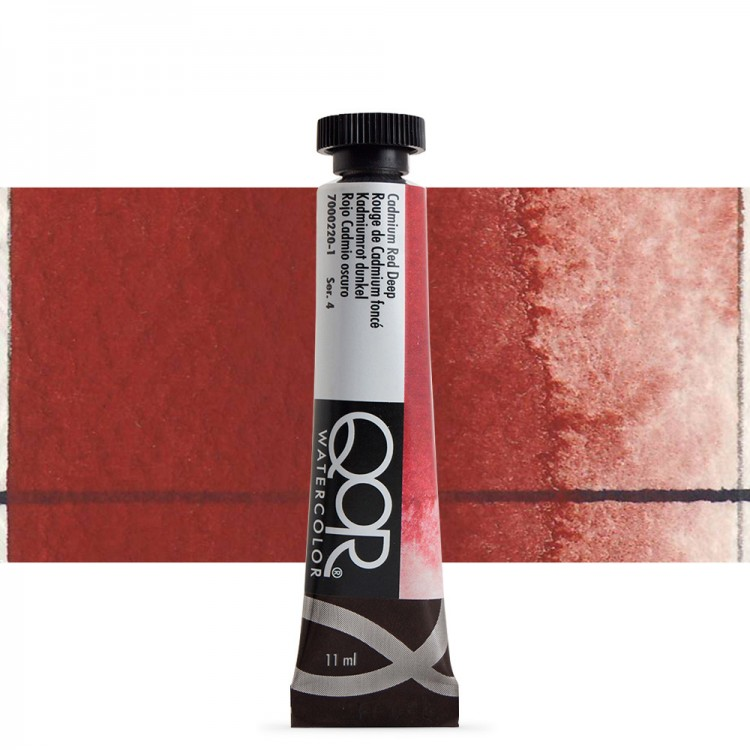 Golden QoR : Watercolour Paint : 11ml : Cadmium Red Deep