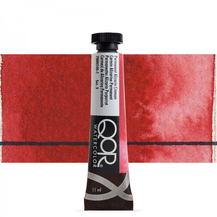 Golden QoR : Watercolour Paint : 11ml : Permanent Alizarin Crimson