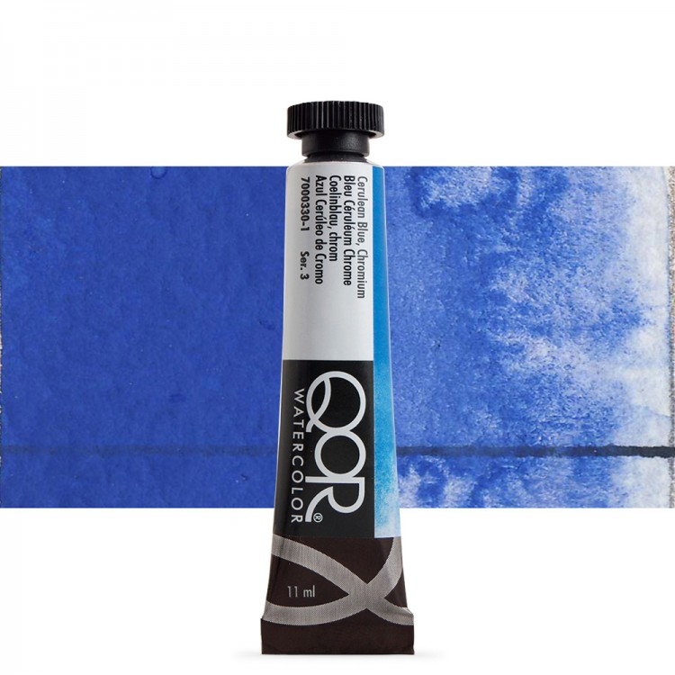 Golden QoR : Watercolour Paint : 11ml : Cerulean Blue Chromium
