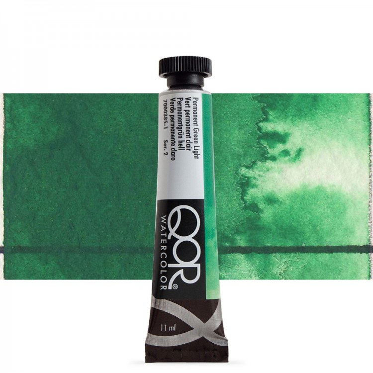 Golden QoR : Watercolour Paint : 11ml : Permanent Green Light