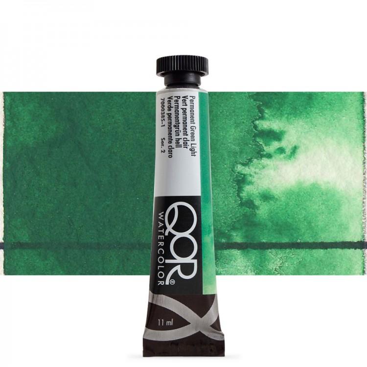 Golden QoR : Watercolour Paint : 11ml : Permanent Green Light