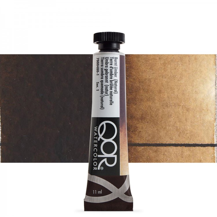 Golden QoR : Watercolour Paint : 11ml : Burnt Umber Natural
