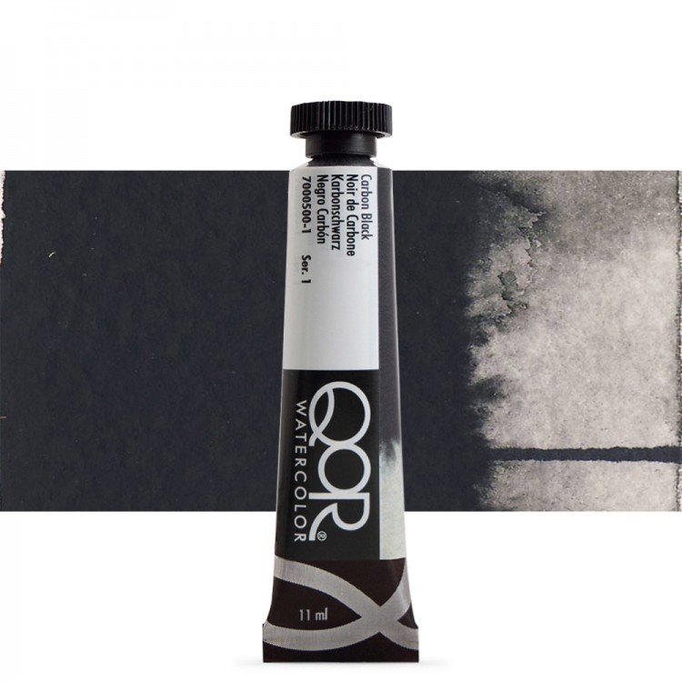 Golden QoR : Watercolour Paint : 11ml : Carbon Black