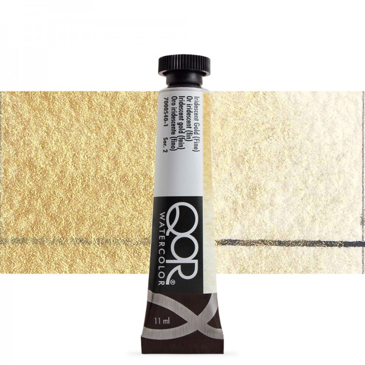 Golden QoR : Watercolour Paint : 11ml : Iridescent Gold Fine