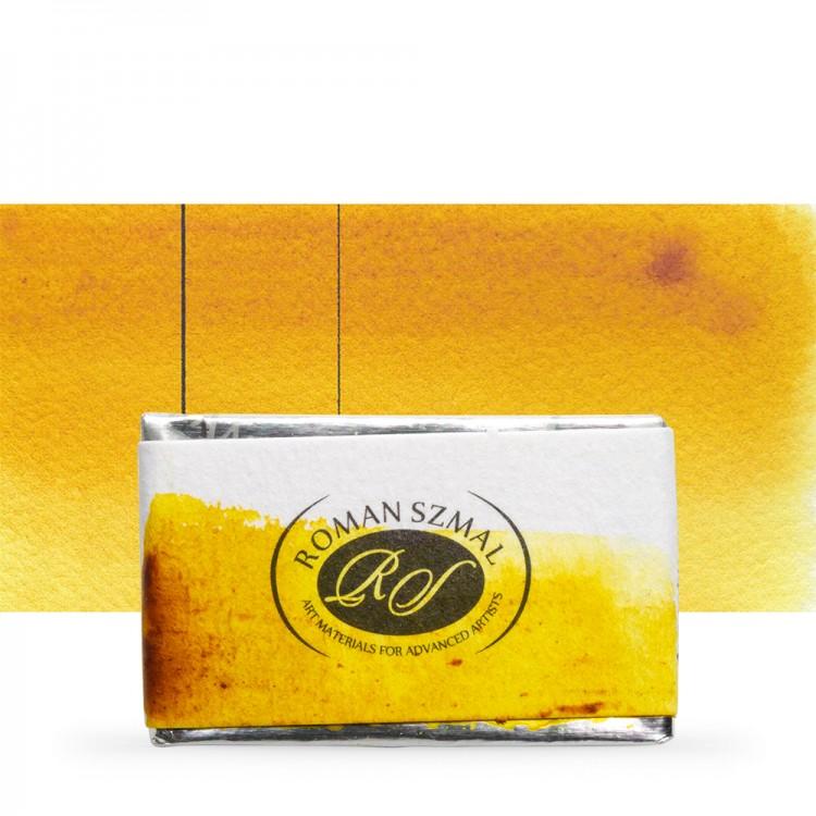 Roman Szmal : Aquarius : Watercolour Paint : Full Pan : Nickel Azo Yellow