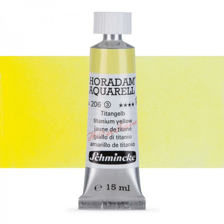 Schmincke : Horadam Watercolour Paint : 15ml : Titanium Yellow