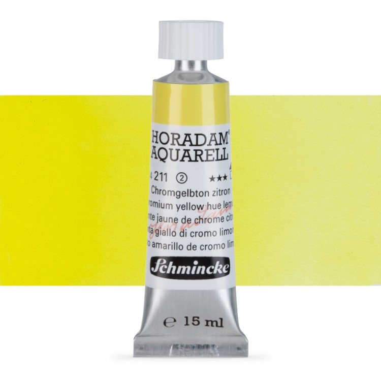 Schmincke : Horadam Watercolour : 15ml : Chromium Yellow Hue Lemon (Chrome Yellow Lemon)