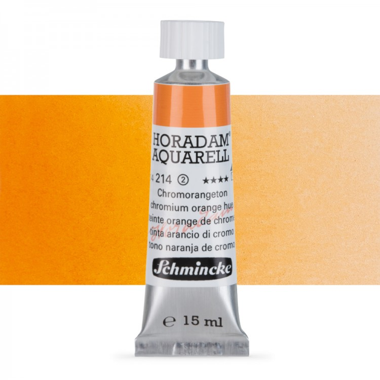 Schmincke : Horadam Watercolour Paint : 15ml : Chrome Orange