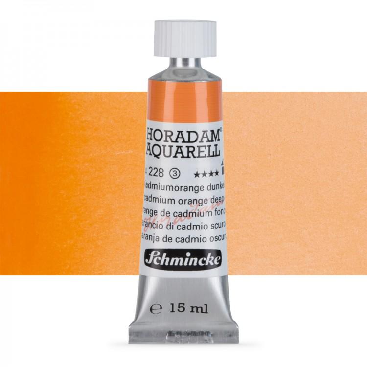 Schmincke : Horadam Watercolour Paint : 15ml : Cadmium Orange Deep