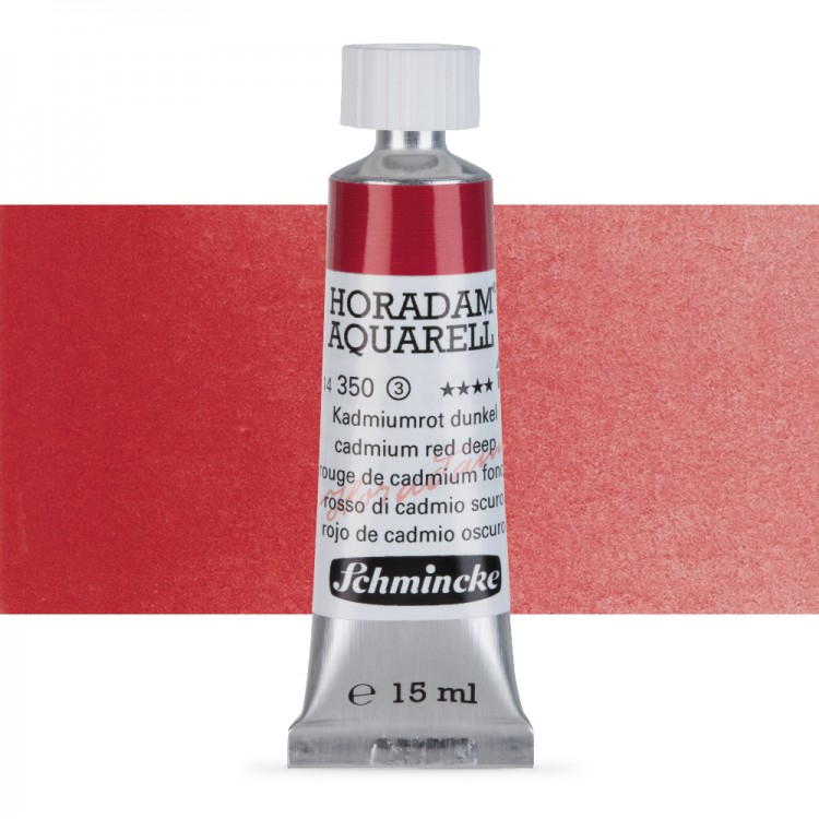 Schmincke : Horadam Watercolour Paint : 15ml : Cadmium Deep Red