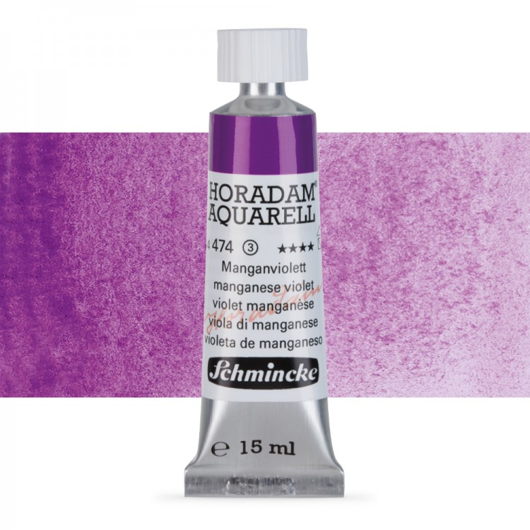 Schmincke : Horadam Watercolour Paint : 15ml : Manganese Violet