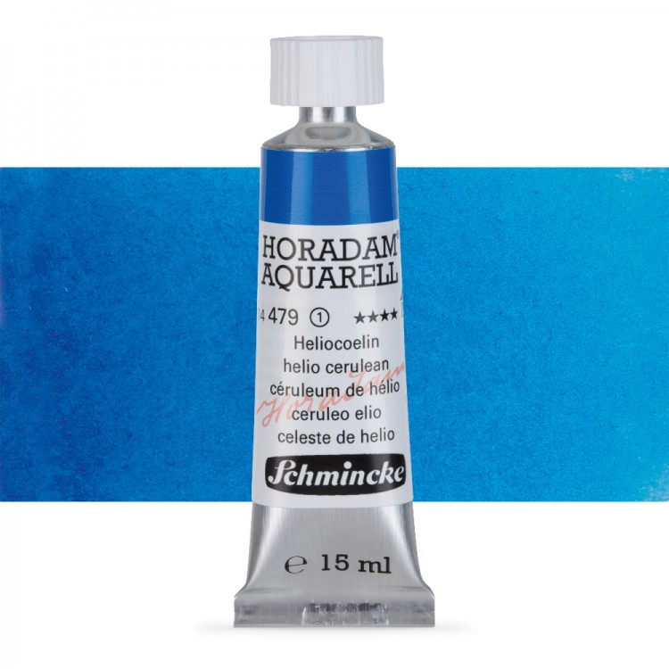 Schmincke : Horadam Watercolour Paint : 15ml : Helio Cerulean