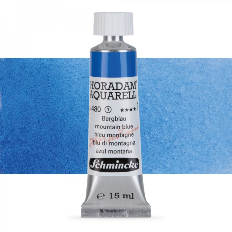 Schmincke : Horadam Watercolour Paint : 15ml : Mountain Blue