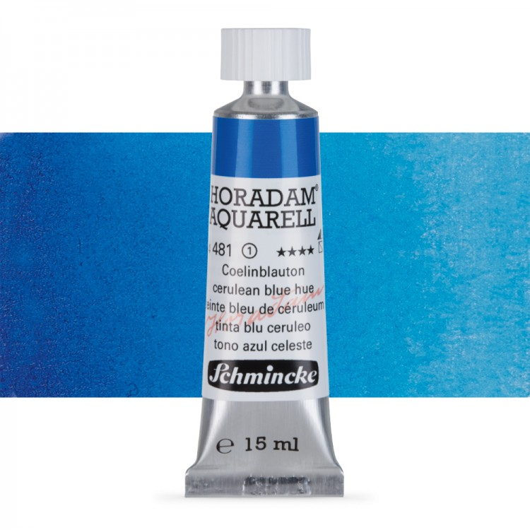 Schmincke : Horadam Watercolour Paint : 15ml : Cerulean Blue Tone