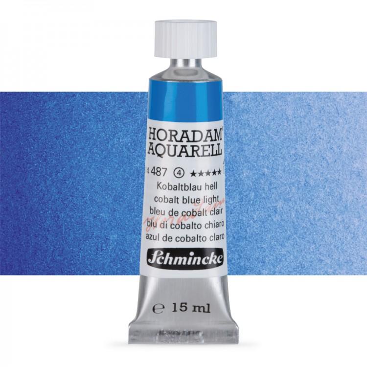 Schmincke : Horadam Watercolour Paint : 15ml : Cobalt Blue Light
