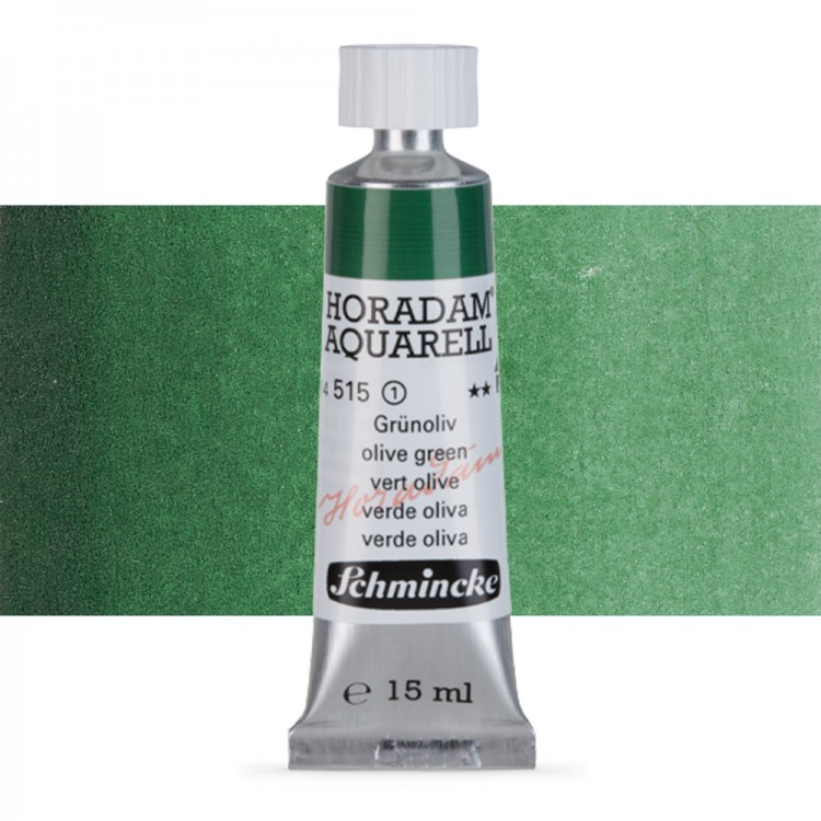 Schmincke : Horadam Watercolour Paint : 15ml : Olive Green