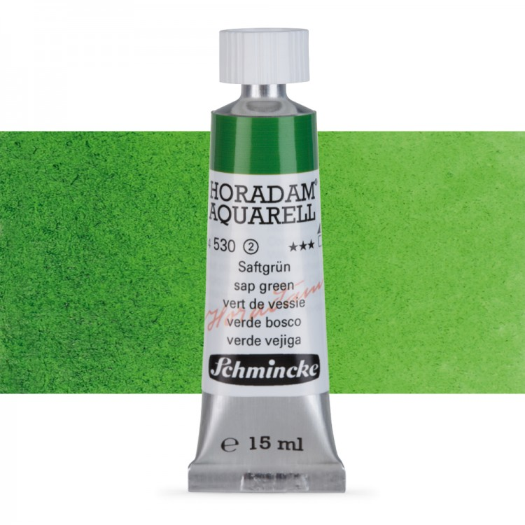 Schmincke : Horadam Watercolour Paint : 15ml : Sap Green