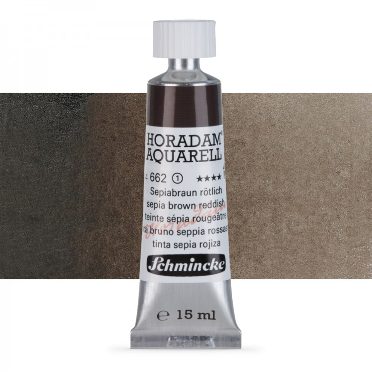 Schmincke : Horadam Watercolour Paint : 15ml : Sepia Brown Tone