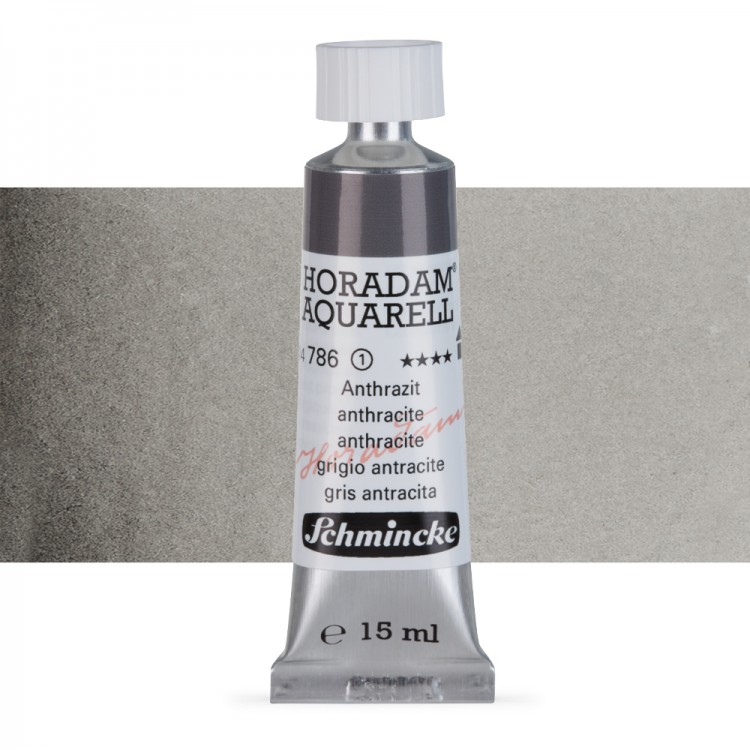 Schmincke : Horadam Watercolour Paint : 15ml : Charcoal Grey