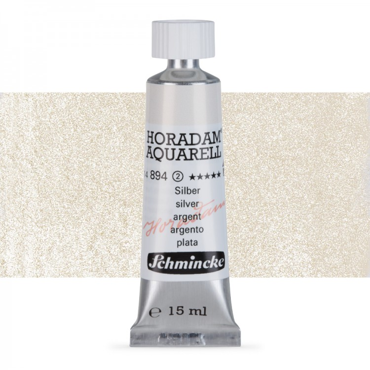Schmincke : Horadam Watercolour Paint : 15ml : Silver