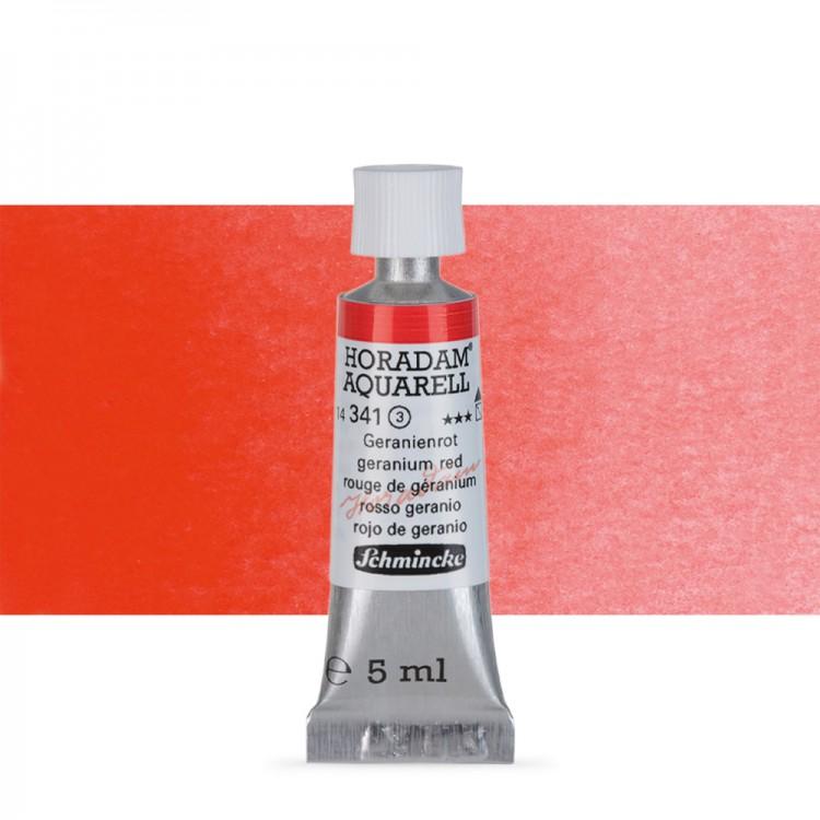 Schmincke Horadam Watercolour Paint 5ml Geranium Red