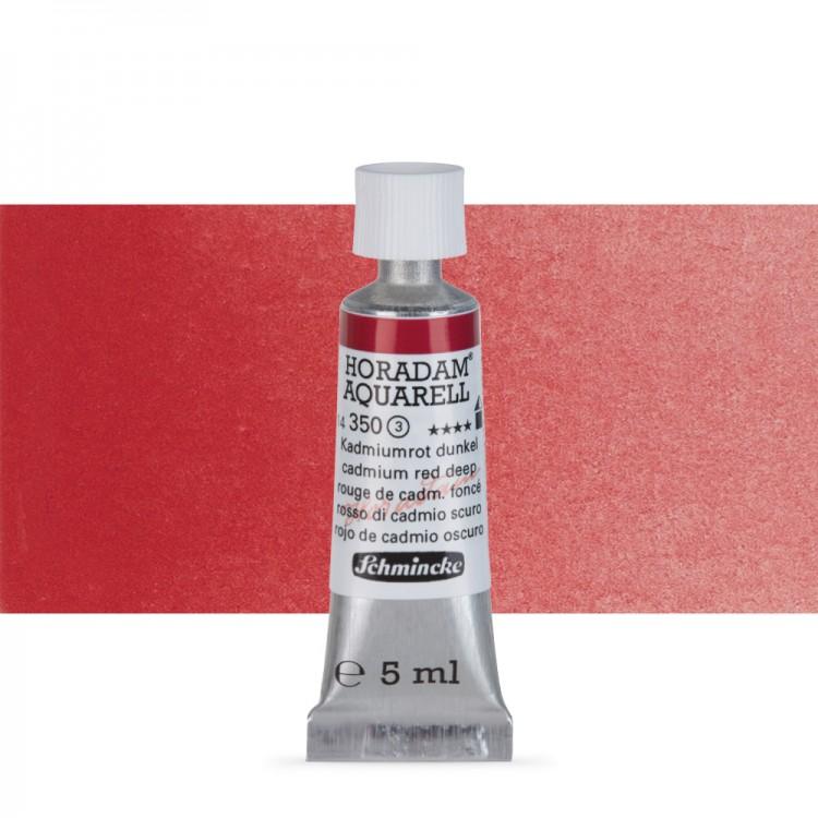 Schmincke : Horadam Watercolour Paint : 5ml : Cadmium Deep Red