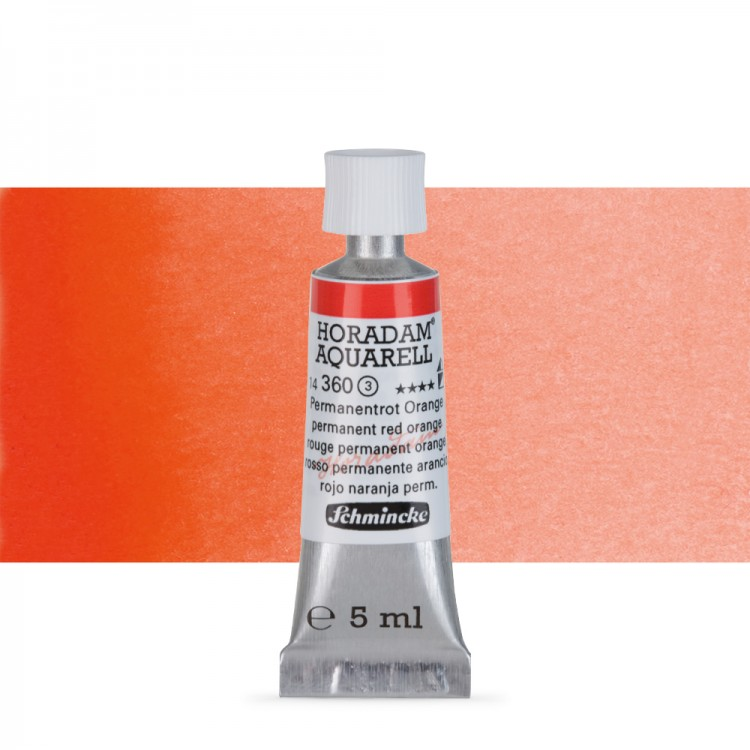 Schmincke : Horadam Watercolour Paint : 5ml : Permanent Red Orange