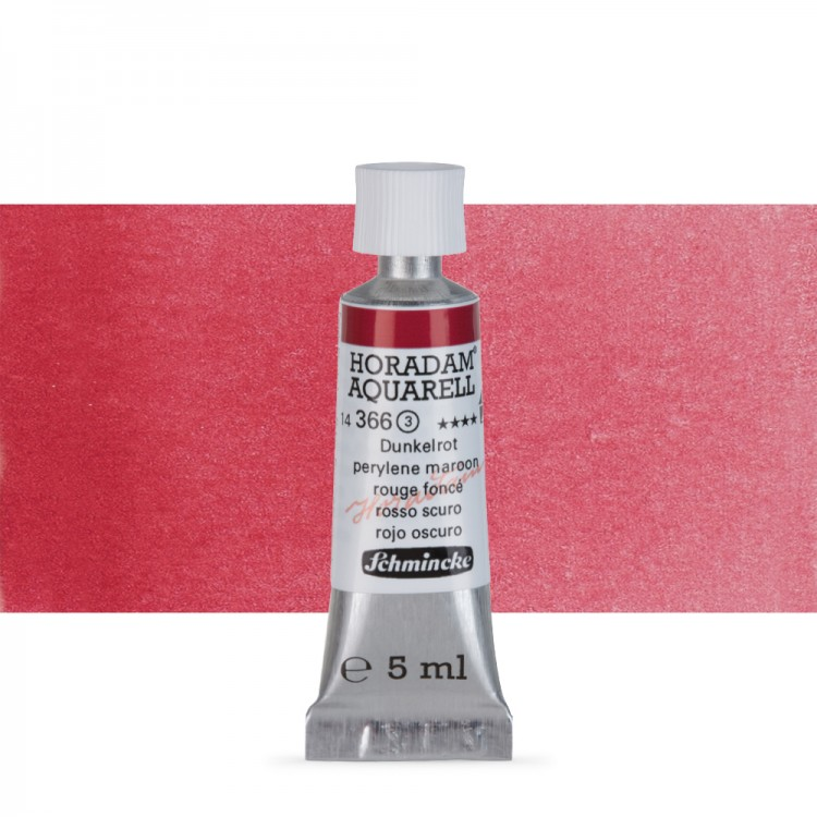 Schmincke : Horadam Watercolour : 5ml : Perylene Maroon (Deep Red)