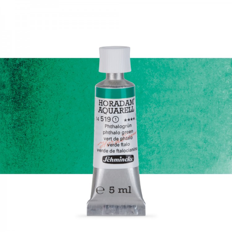 Schmincke : Horadam Watercolour Paint : 5ml : Phthalo Green