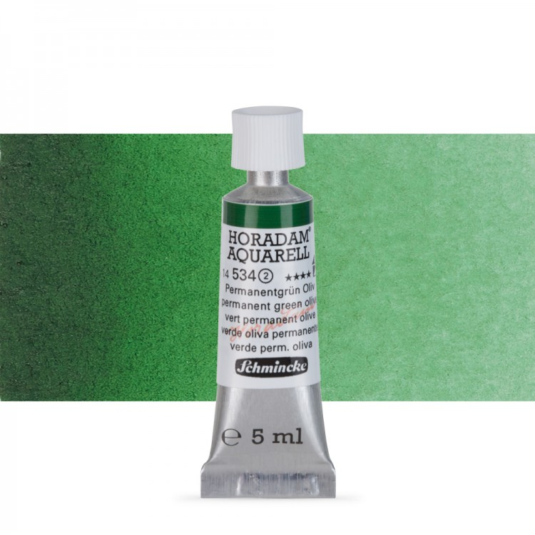 Schmincke : Horadam Watercolour Paint : 5ml : Permanent Green Olive