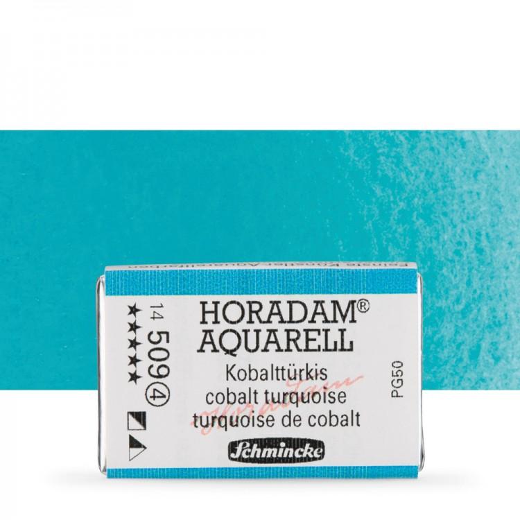 Schmincke : Horadam Watercolour Paint : Full Pan : Cobalt Turquoise