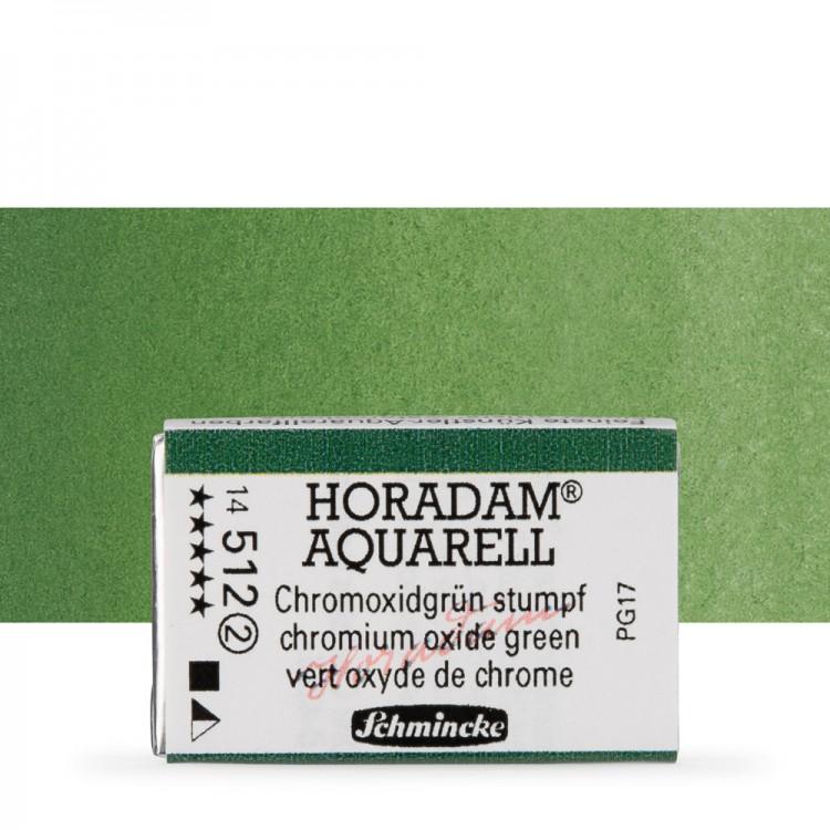 Schmincke : Horadam Watercolour Paint : Full Pan : Chromium Oxide Green