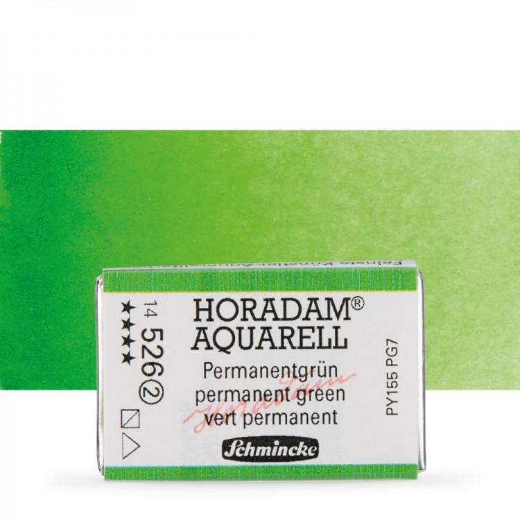 Schmincke : Horadam Watercolour Paint : Full Pan : Permanent Green