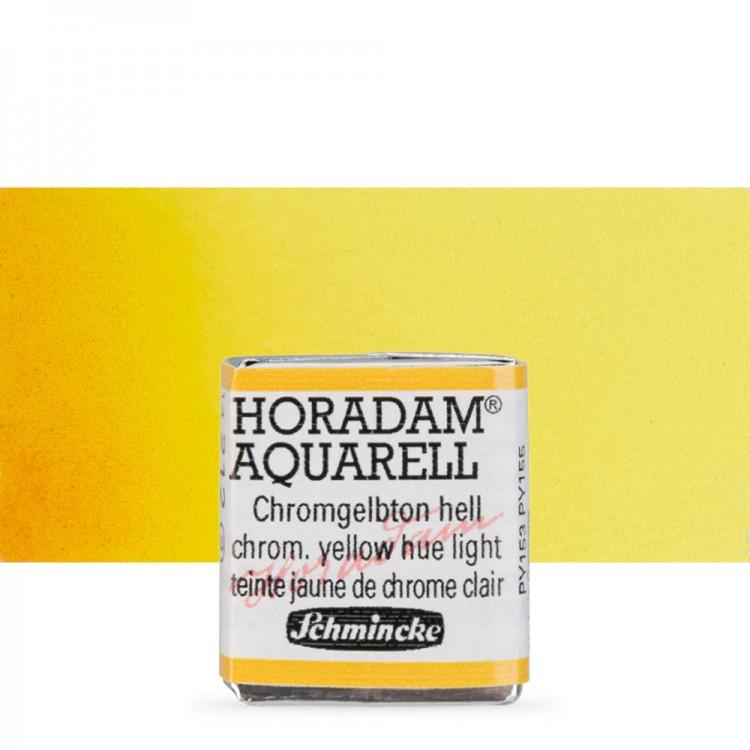 Schmincke : Horadam Watercolour Paint : Half Pan : Chrome Yellow Light
