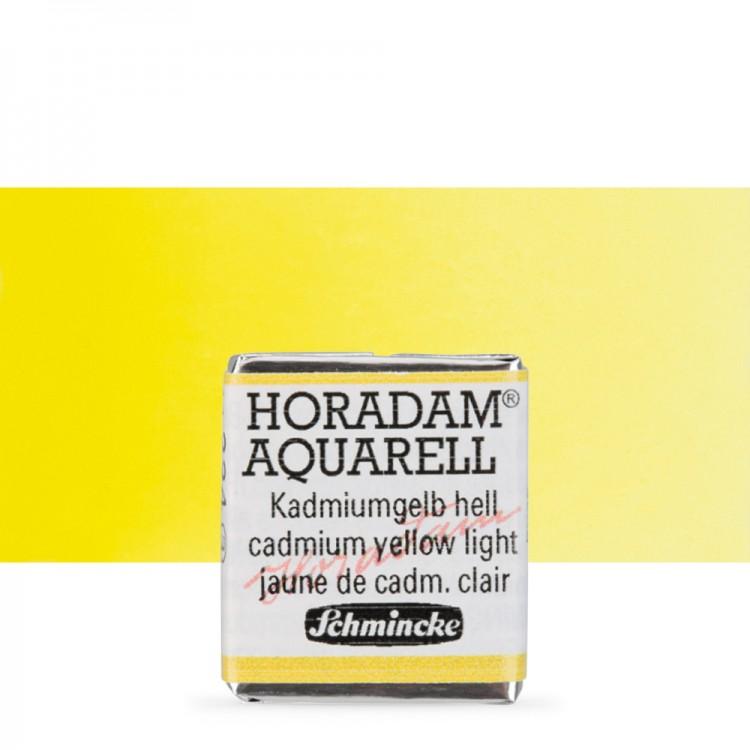 Schmincke : Horadam Watercolour Paint : Half Pan : Cadmium Yellow Light