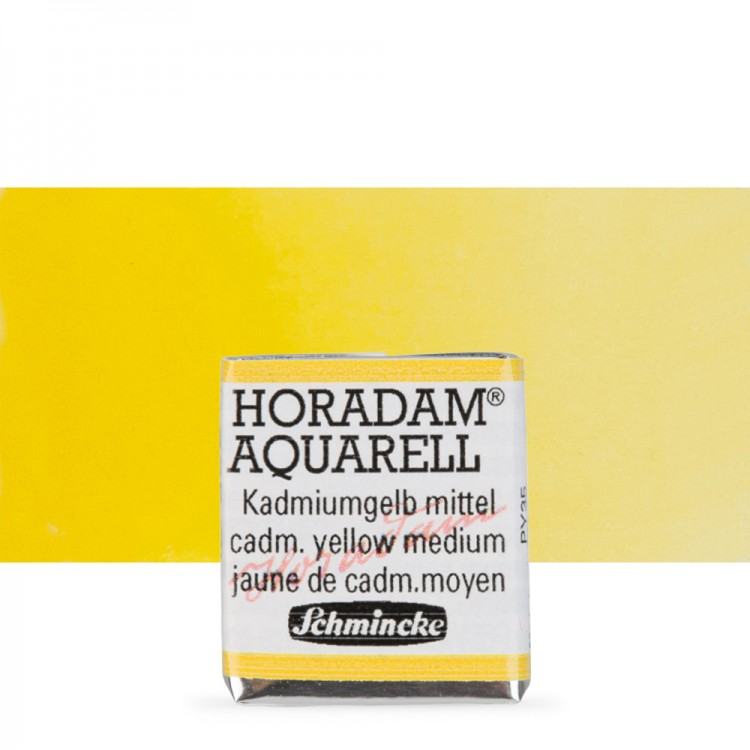 Schmincke : Horadam Watercolour Paint : Half Pan : Cadmium Yellow Medium