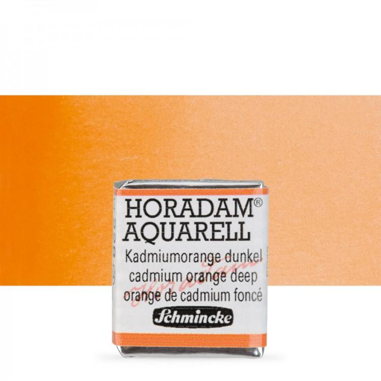 Schmincke : Horadam Watercolour Paint : Half Pan : Cadmium Orange Deep